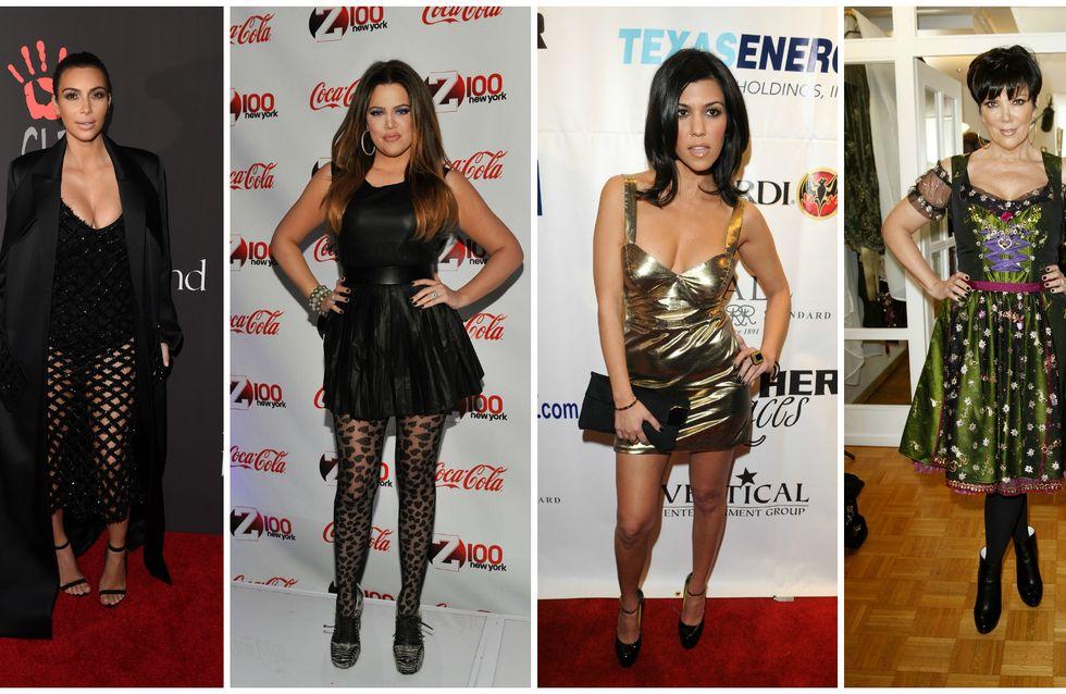 Les incroyables looks provocants de la famille Kardashian