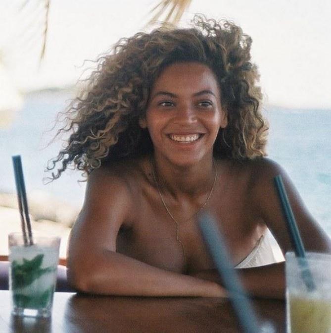 Beyoncé sans maquillage.