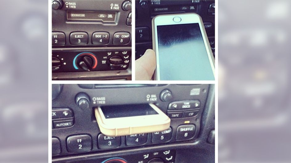 Irgendwie fühlen wir uns alt: Junge hält Kassettenspieler für Smartphone-Halterung