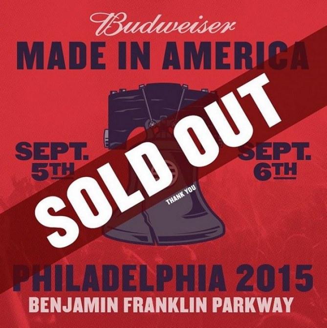 Affiche Budweiser Made in America 2015