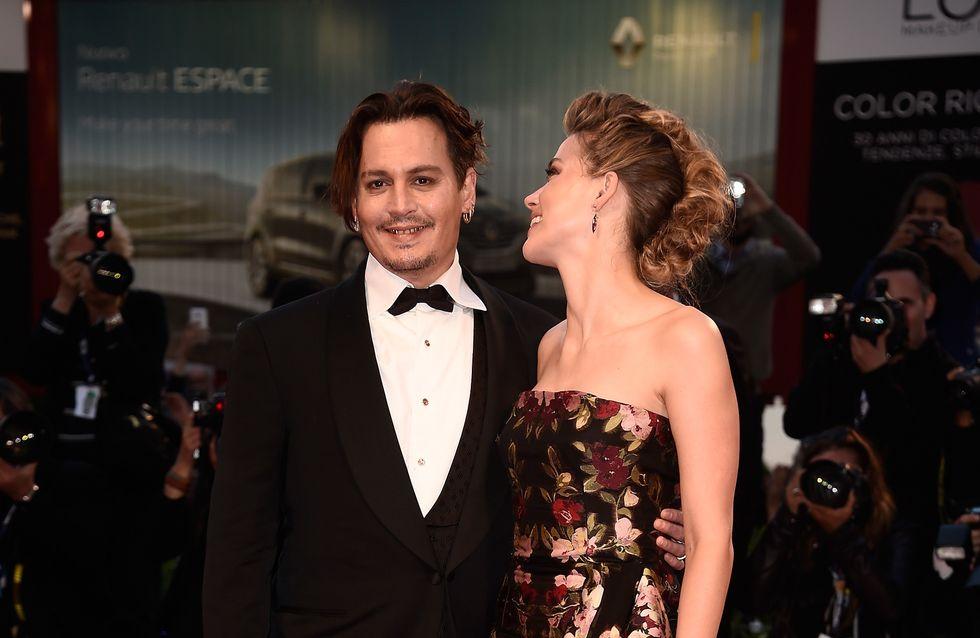 Johnny Depp et Amber Heard plus amoureux que jamais à la Mostra de Venise (Photos)