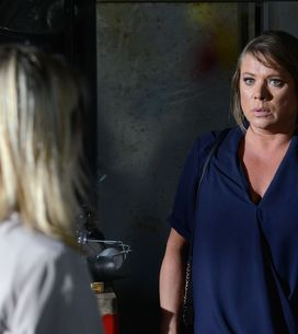 Eastenders 14/09 - Kathy hiding in The Arches