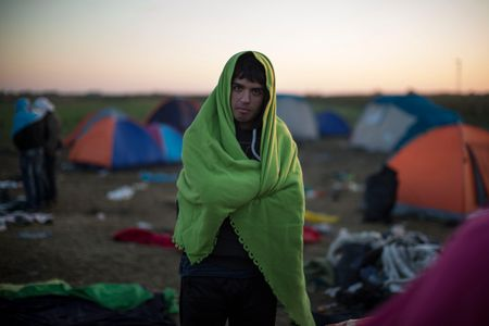Un migrant en Hongrie