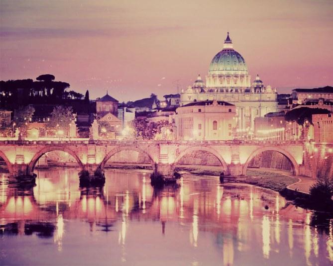 Roma, Puente Sant'Angelo y San Pedro del Vaticano