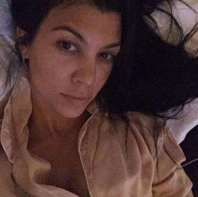 Kourtney Kardashian sans maquillage.
