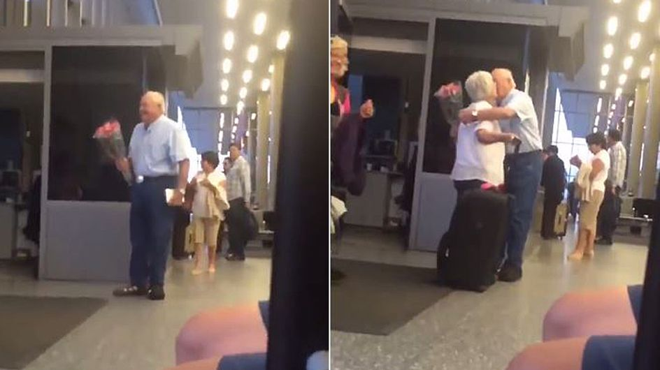 Ein alter Mann wartet allein am Flughafen - was dann passiert, lässt unsere Herzen höher schlagen