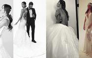 Belén, modella di vestiti da sposa. Le foto della Signora De Martino di nuovo in