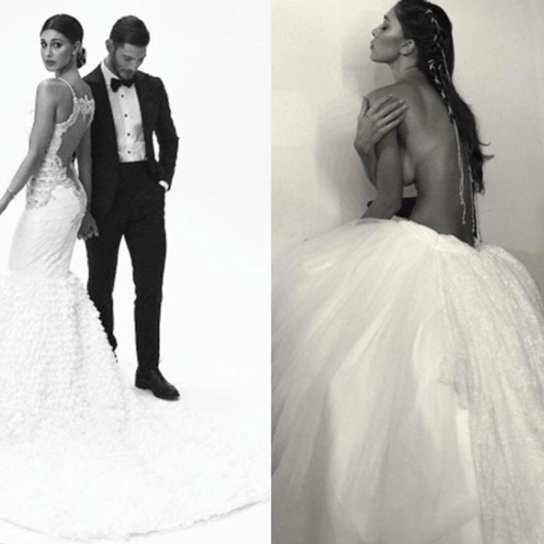 newest 1a6c0 91375 Belén, modella di abiti da sposa. Ecco le foto!