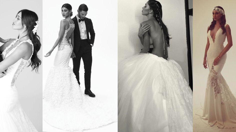 Belén, modella di vestiti da sposa. Le foto della Signora De Martino di nuovo in abito bianco