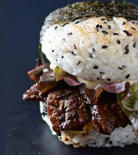 La sushi- hamburguesa, posiblemente el mejor invento culinario de los últimos ti