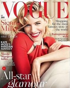 Sienna Miller en couverture de Vogue