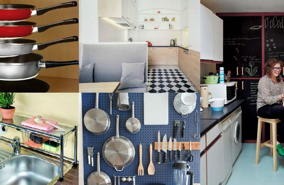 Ideias para aproveitar ao máximo (e com muito estilo) uma cozinha pequena
