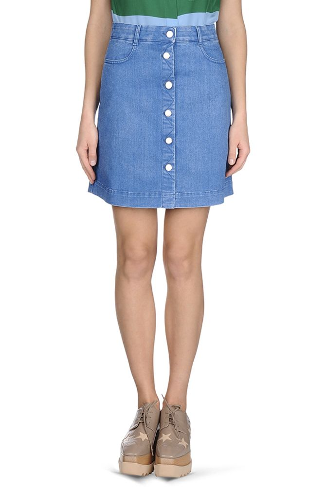 Gonna in denim azzurra; Stella McCartney