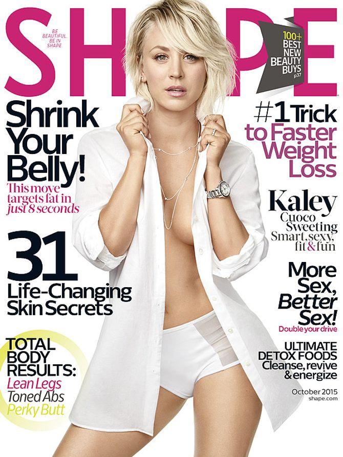 Kaley Cuoco pour Shape Magazine