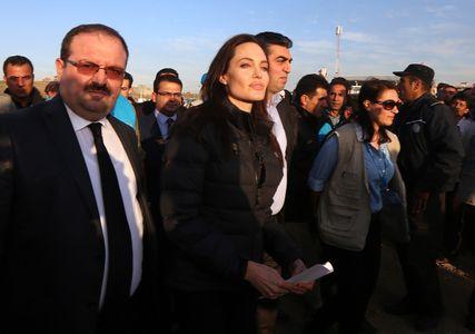 Angelina Jolie en déplacement.