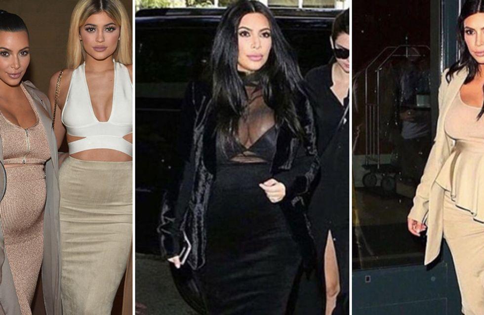 Kim e i suoi eccentrici look premaman: ecco gli ultimi outfit della Kardashian!