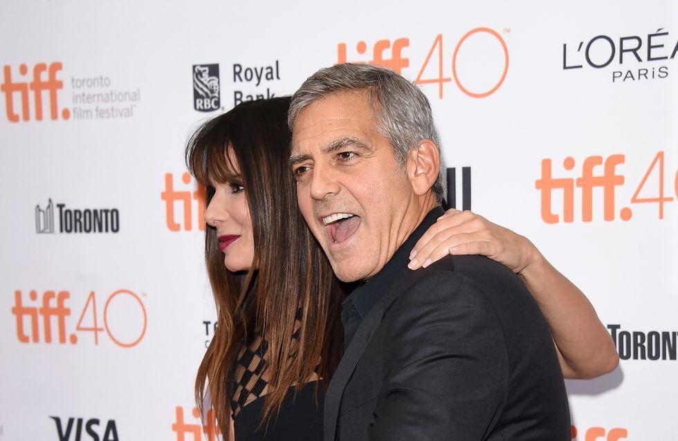 Sandra Bullock sublime aux côtés de George Clooney au Festival de Toronto (Photos)
