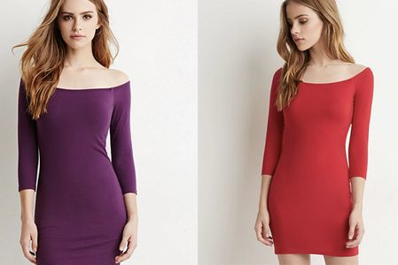 Abito Bardot stretch in varie nuance; Forever 21