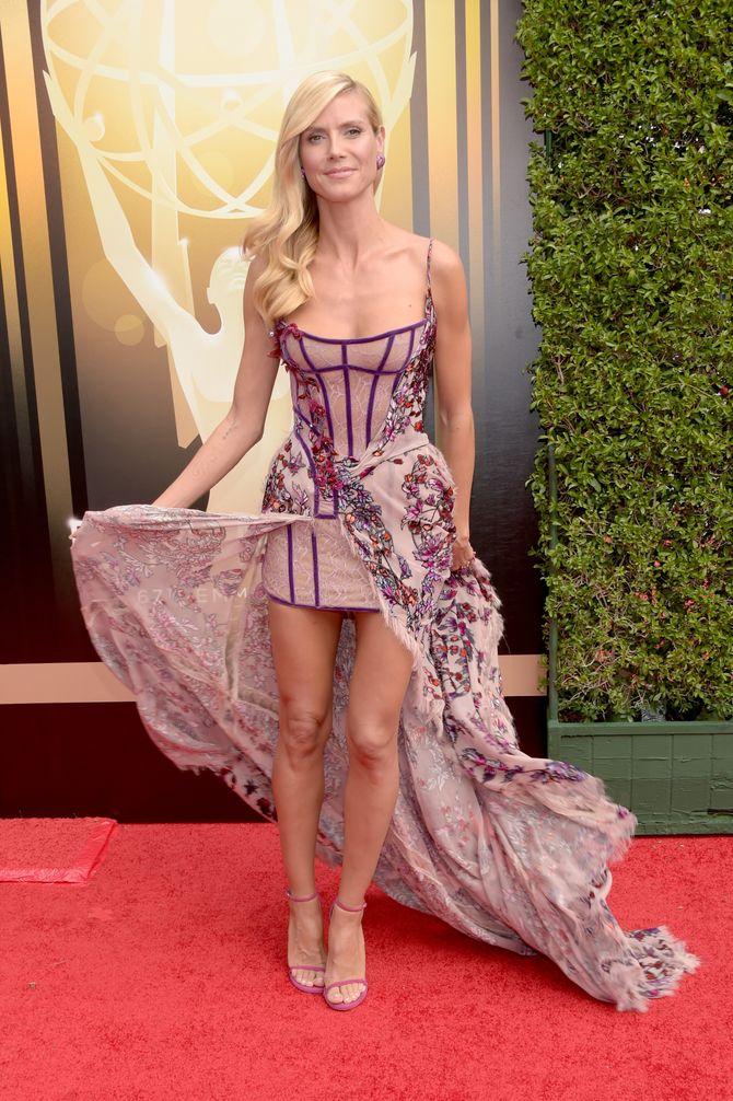Heidi Klum en Atelier Versace