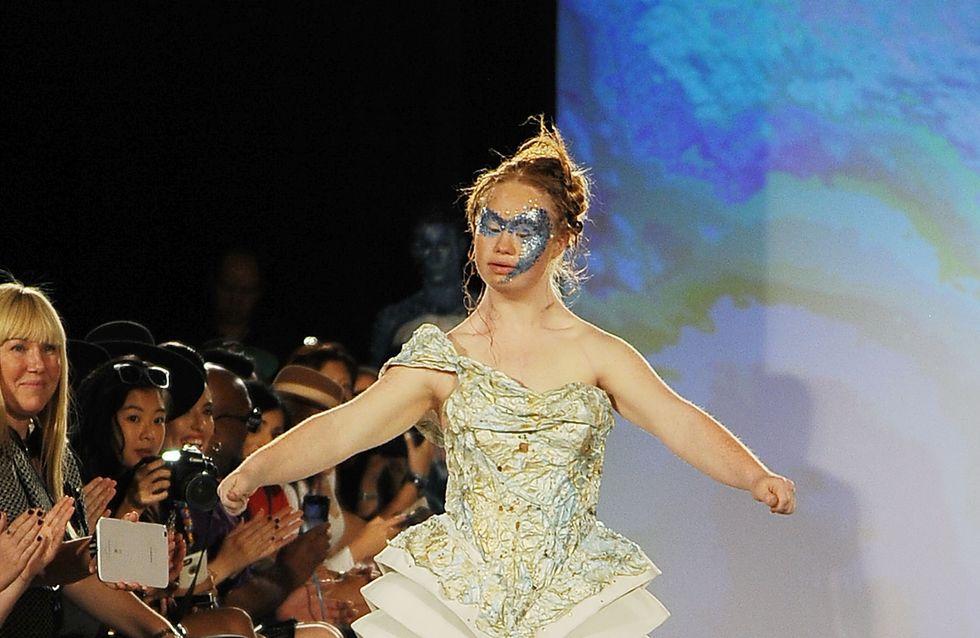 Madeline Stuart, le mannequin trisomique, rayonnante à la Fashion Week de New York (Photos)
