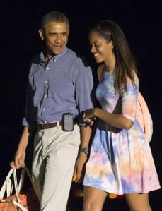 Barack et Malia Obama