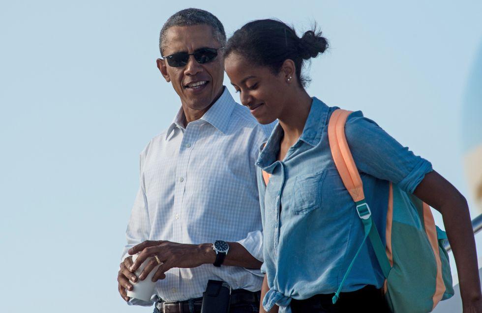 Barack Obama ému à l'idée de voir sa fille Malia partir à la fac
