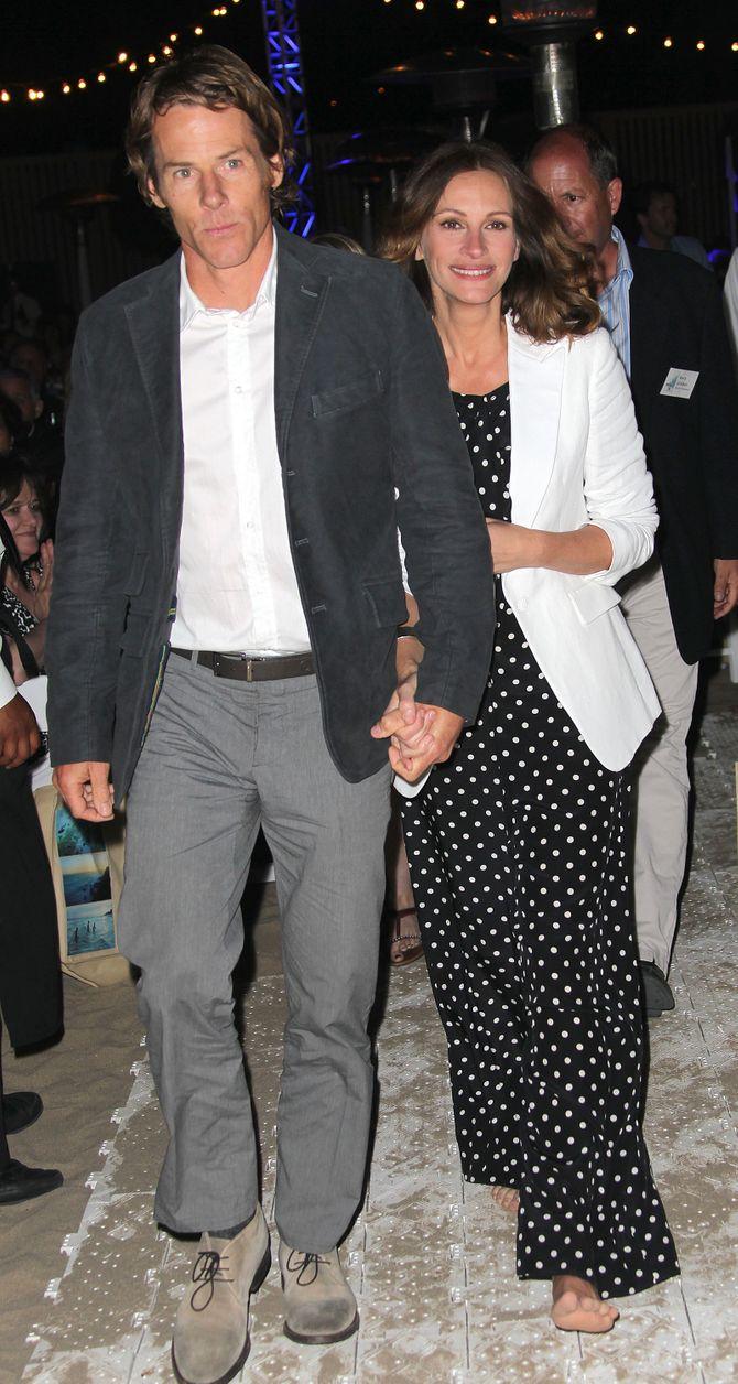 Julia Roberts et Danny Moder en 2012