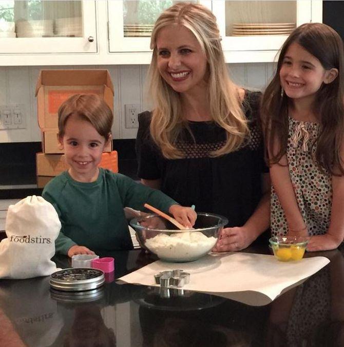 Sarah Michelle Gellar et ses deux enfants