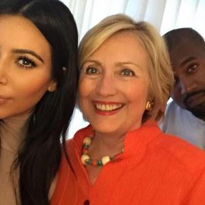 Kim Kardashian, Hillary Clinton et Kanye West
