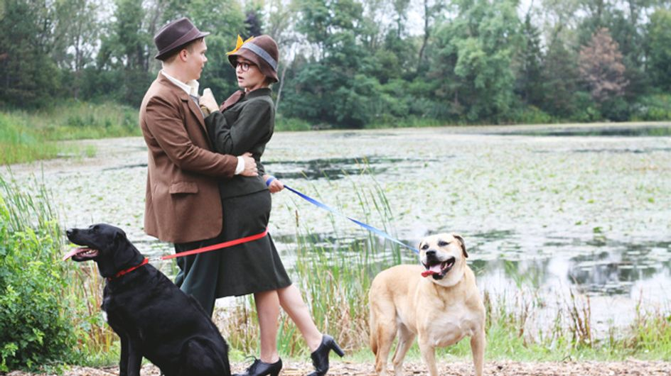 This Couple's Classic 101 Dalmatians Engagement Photos Are Just Adorable