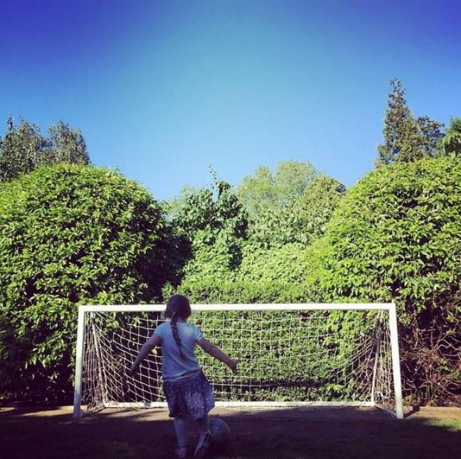 Harper Beckham, fan de foot