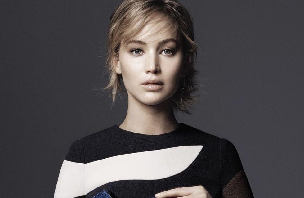 Jennifer Lawrence, muse inépuisable pour la nouvelle collection de sacs Dior (Photos)