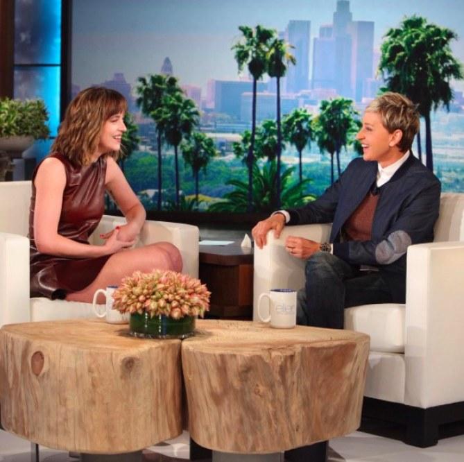Dakota Johnson et Ellen DeGeneres