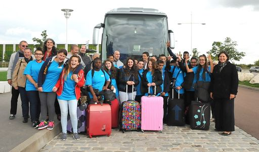 Groupe sur le départ pour Londres le 17 septembre