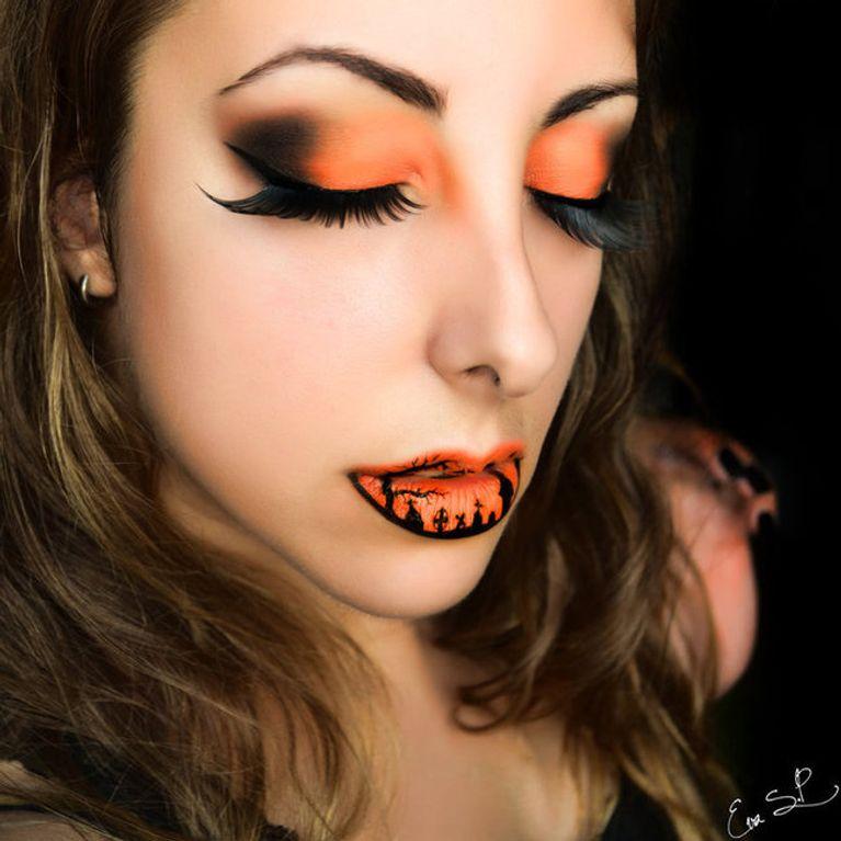 Schaurig Schön Coole Halloween Lippen Zum Horrorfest