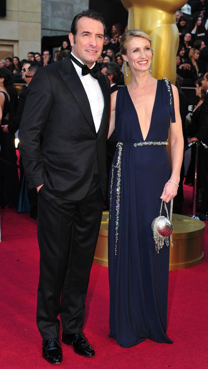Alexandra Lamy et Jean Dujardin aux Oscars en février 2012