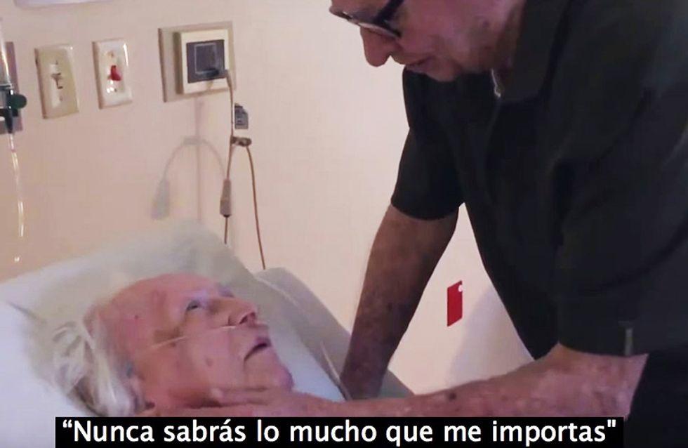 ¡Emociónate! La dulce despedida de un hombre a su esposa tras 73 años juntos