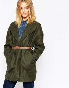 Mantel mit Taillengürtel von Asos Collection