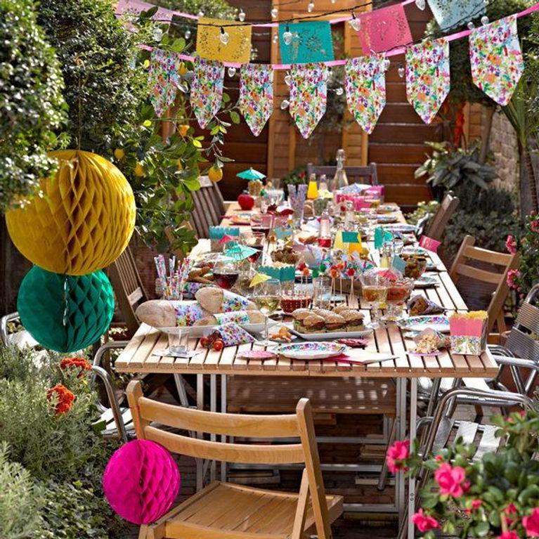 Decoración de fiestas infantiles al aire libre