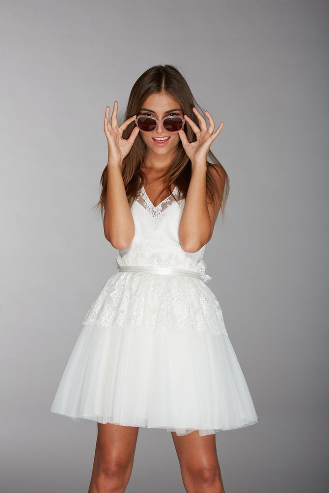 Robe de mariée courte, modèle Joss