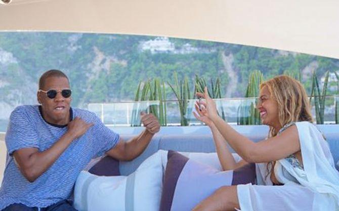 Beyoncé et sa famille en Sardaigne