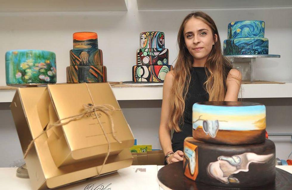 Descubre a la artista que recrea pinturas famosas sobre sus tartas