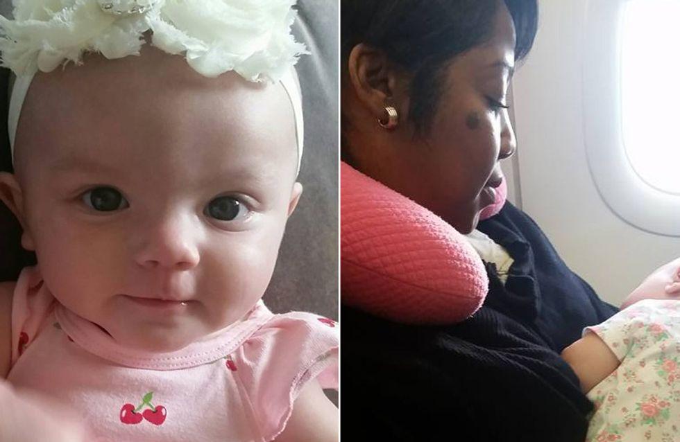 Was diese Frau für eine verzweifelte junge Mutter im Flugzeug tut, geht einfach ans Herz