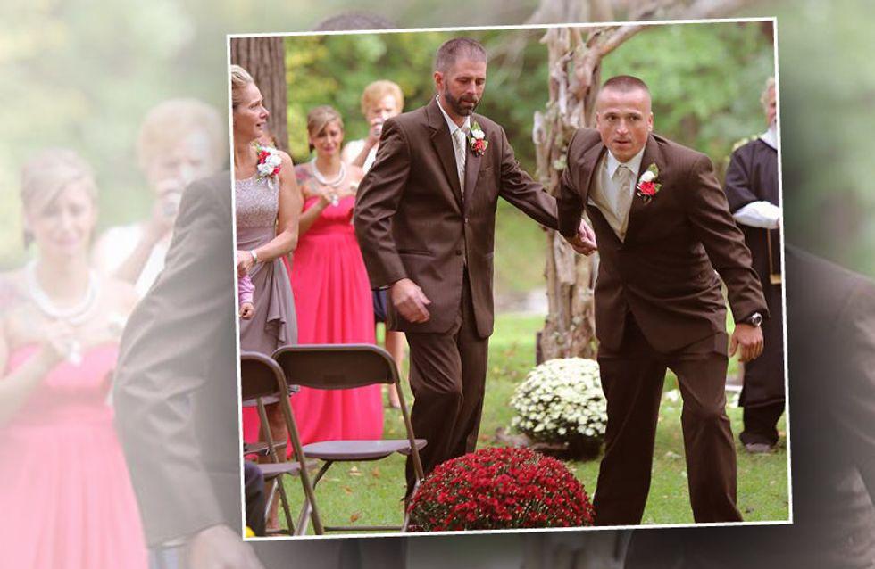 Auf dem Weg zum Altar lässt er seine Tochter stehen - und rührt alle zu Tränen