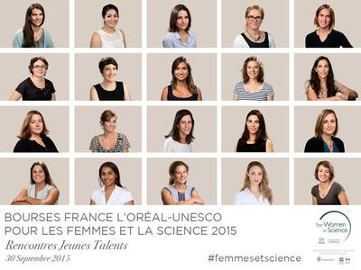 Les boursières du pris L'Oréal-UNESCO Pour les Femmes et la Science