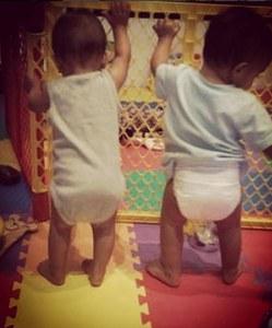 Les jumeaux de Zoe Saldana.
