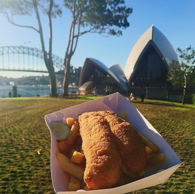 Fish and chips en Sídney