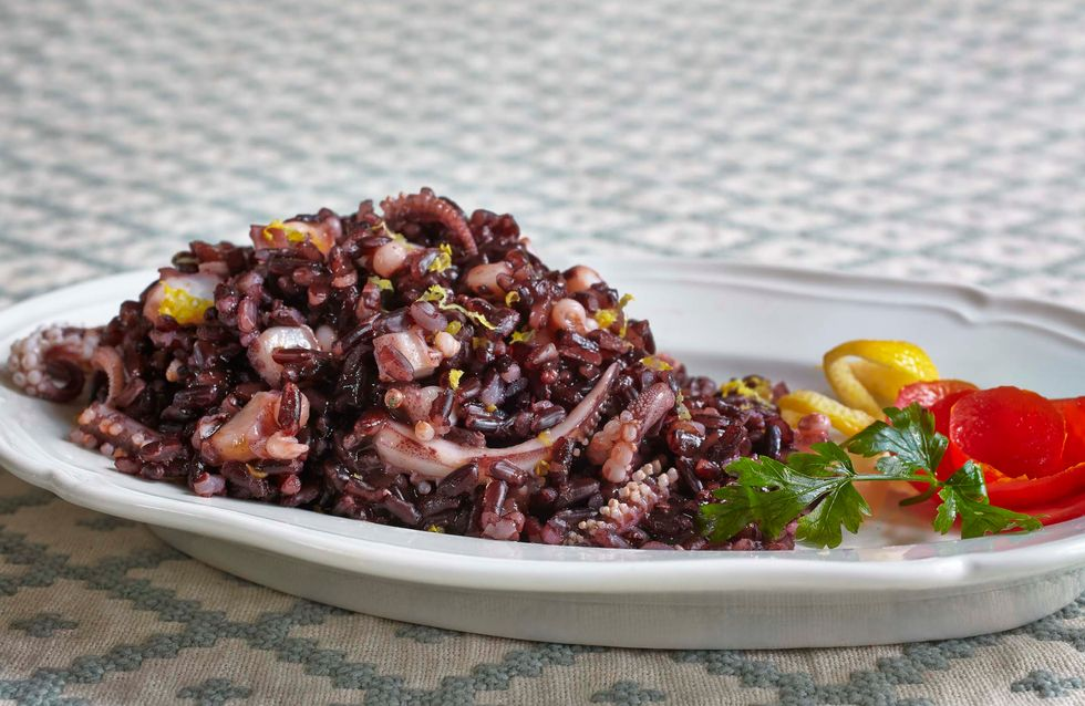Moscardini con riso Venere, il Cavallo di Battaglia in cucina di Gisella Filippi Bignami
