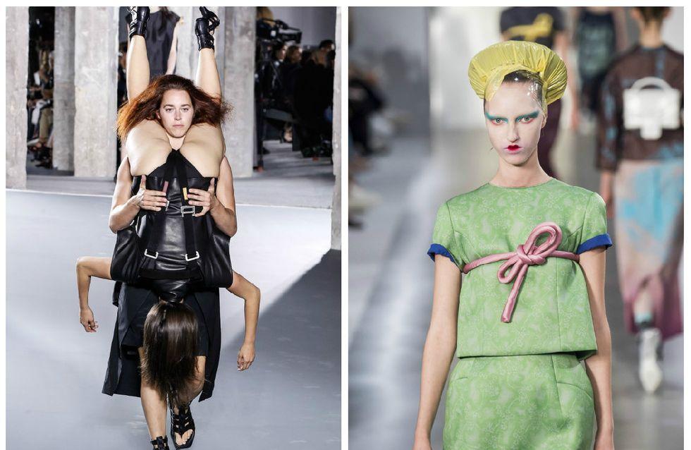 7 pièces vraiment bizarres repérées pendant la Fashion Week