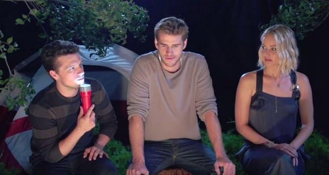 Josh Hutcherson, Liam Hemsworth et Jennifer Lawrence